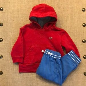 Hanna Andersson jogger & Champion hoodie bundle 2T
